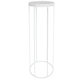 Marble Wire Large Table, White