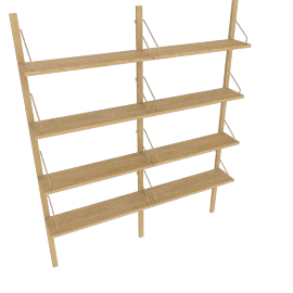 Royal System 2-Bay Shelving Unit, Oak