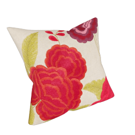 Oriental Peony Cushion, Multi