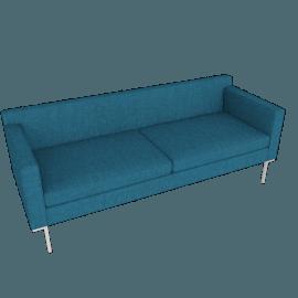 Theatre Sofa, Linen Weave, Fin