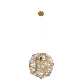 Etch Pendant, Brass