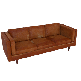 Chill 4 Seater Sofa, Suede Tobacco