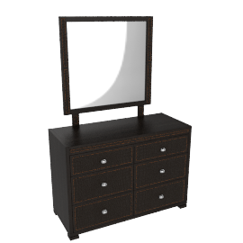 Croco Dresser W/Mrror, D.Brn