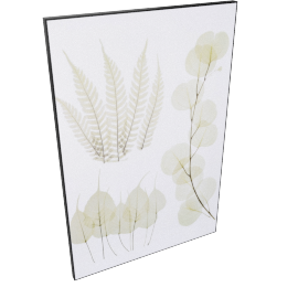 Leaf Pressings Framed Picture 60X2.5X90Cm-Multicolor