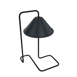 Toulouse Desk Lamp, Shiny Black