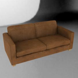 John Lewis Highlands Large Leather Sofa