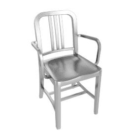 1006 Navy® Armchair - Brushed