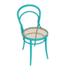 Era Chair with Cane - Turquoise
