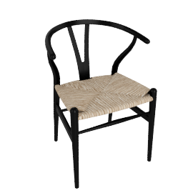 Wishbone Chair - Lacquer (Colors) - Black