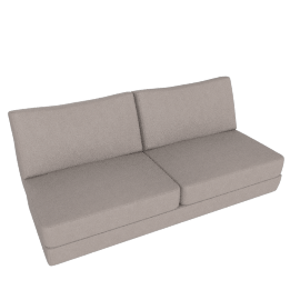 Reid Armless Sofa, Kalahari Leather Grey
