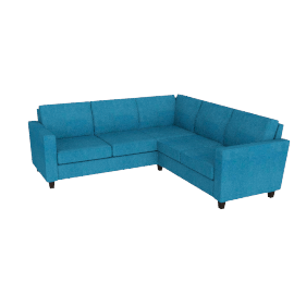 Portia Corner Unit, Teal / Dark Leg