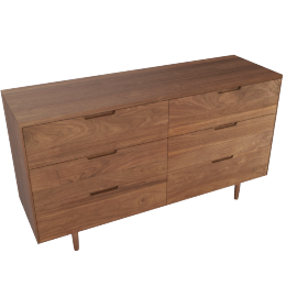 Raleigh Wide Dresser, Walnut