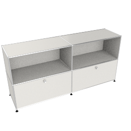 USM Haller Closed Storage Credenza, White
