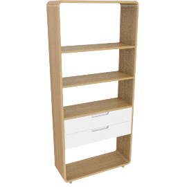 Ebbe Gehl for John Lewis Mira 2 Drawer BookcaseWide