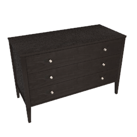 Hotel 3 Drawer Low Chest