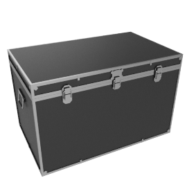 Fortified King Trunk, Black