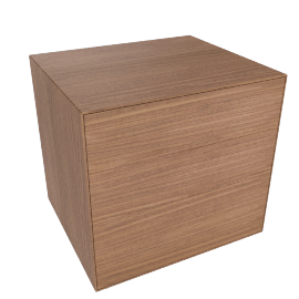 Lauki Bedside Table, Walnut