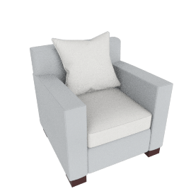 Muse Armchair (fabric B) - Glass