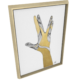 Sign Language VIII by KelliEllis - 24''x32'', Gold