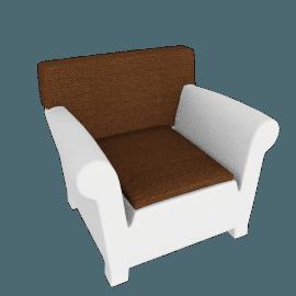 "Kartell Bubble Club Armchair 1"" Sunbrella Seat Cushion"