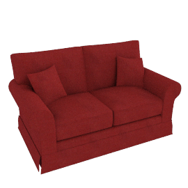 Padstow Medium Sofa, Burgundy
