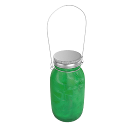 Mason LED Jar, Green