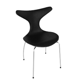 danform - DOLPHIN CHAIR, black leather