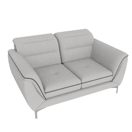 Galium 2 Seater, Light Grey