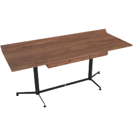 T90 Writing Desk, Walnut