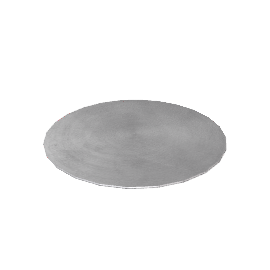 Round Lacquered Placemats, Silver, Box of 6