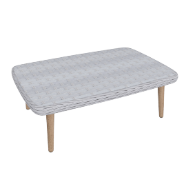Rattatan Coffee Table, Grey
