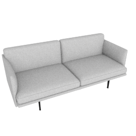 Outline Two-Seater Sofa, Maharam Mode - Surf