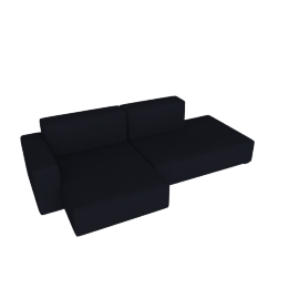 Mags Soft Low Sectional with Left Chaise, Linara - Blueberry