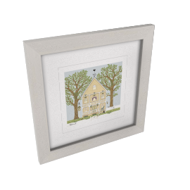 Sally Swannell - Summer House Framed Print, 37 x 37cm