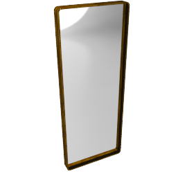 Rectangle Iron Mirror, H76 x W30cm