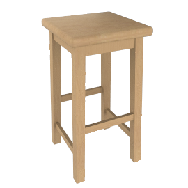 Country High Bar Stool, Natural