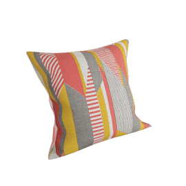 Textured Stripe Pillow, Pink