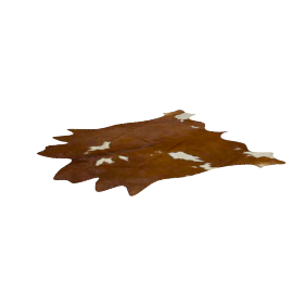 Cow Hide Rug, Brown / White
