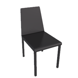 Tosca Leather Dining Chair, Chocolate