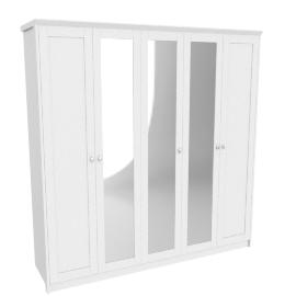 Wave Five-plus Door Wardrobe