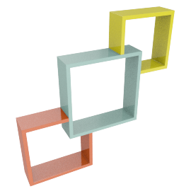 Interlock Wall Cube - Set of 3