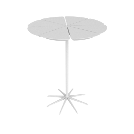 Petal End Table, White