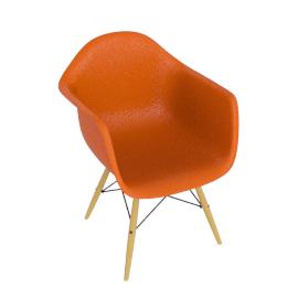 Eames® Molded Plastic Dowel Leg Armchair - DAW