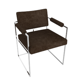 Milo Baughman 1188 Chair in fabric, stainless