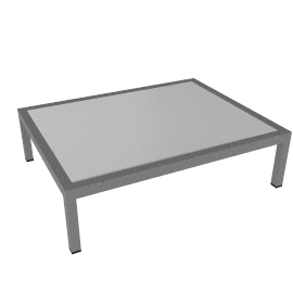 Angle Rectangular Coffee Table - Glass
