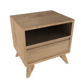 House by John Lewis Stride 1 Drawer Bedside Table