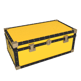 Traditional Steamer Trunk, Yellow