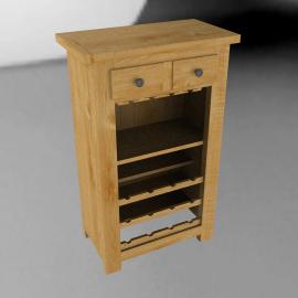 John Lewis Pendleton Wine Storage Cabinet, Oak