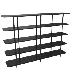 Aero High Shelving, Black