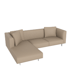 Bilsby Sectional with Left Chaise, Kalahari Leather Warm Grey